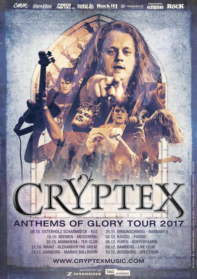 Cryptex Poster zur Anthems Of Glory Tour 2017