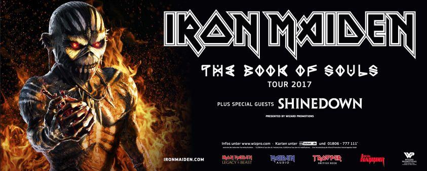 Iron Maiden Tour Flyer 2017